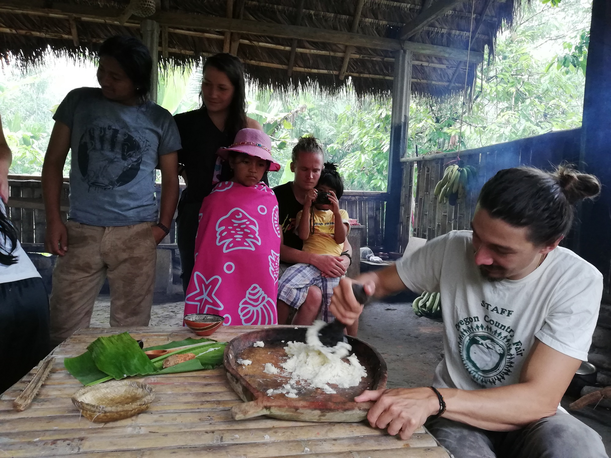 Visit to local Kichwa community